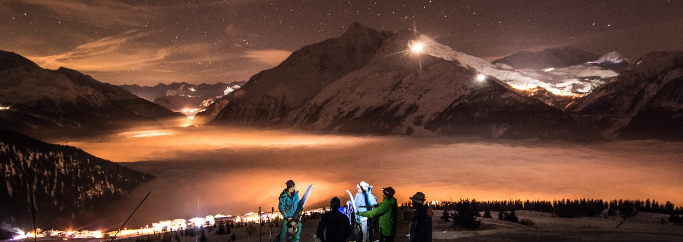 Ski de randonnée la nuit