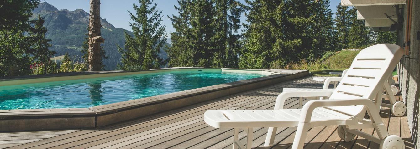 Chalet Les Clarines piscine exterieure
